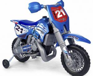 Moto cross électrique bleue pour enfant