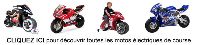 Moto electrique enfants de course