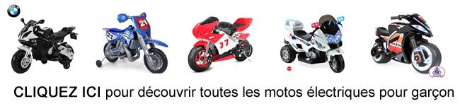 Les motos électriques pour garçon